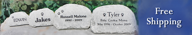 pet memorial stones small to large free shipping