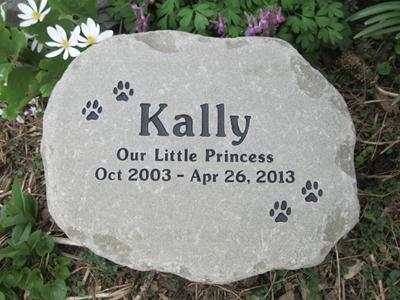 Pet Garden Stones Pet memorial garden stones 12 13 across adirondack stone works we created our pet memorial garden stones to be a more natural and irregular version of our usual bluestone memorials they are made from a browntan workwithnaturefo