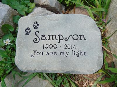 Pet Garden Stones Choose a stone size adirondack stone works pet memorials medium engraved stone 79 free shipping workwithnaturefo