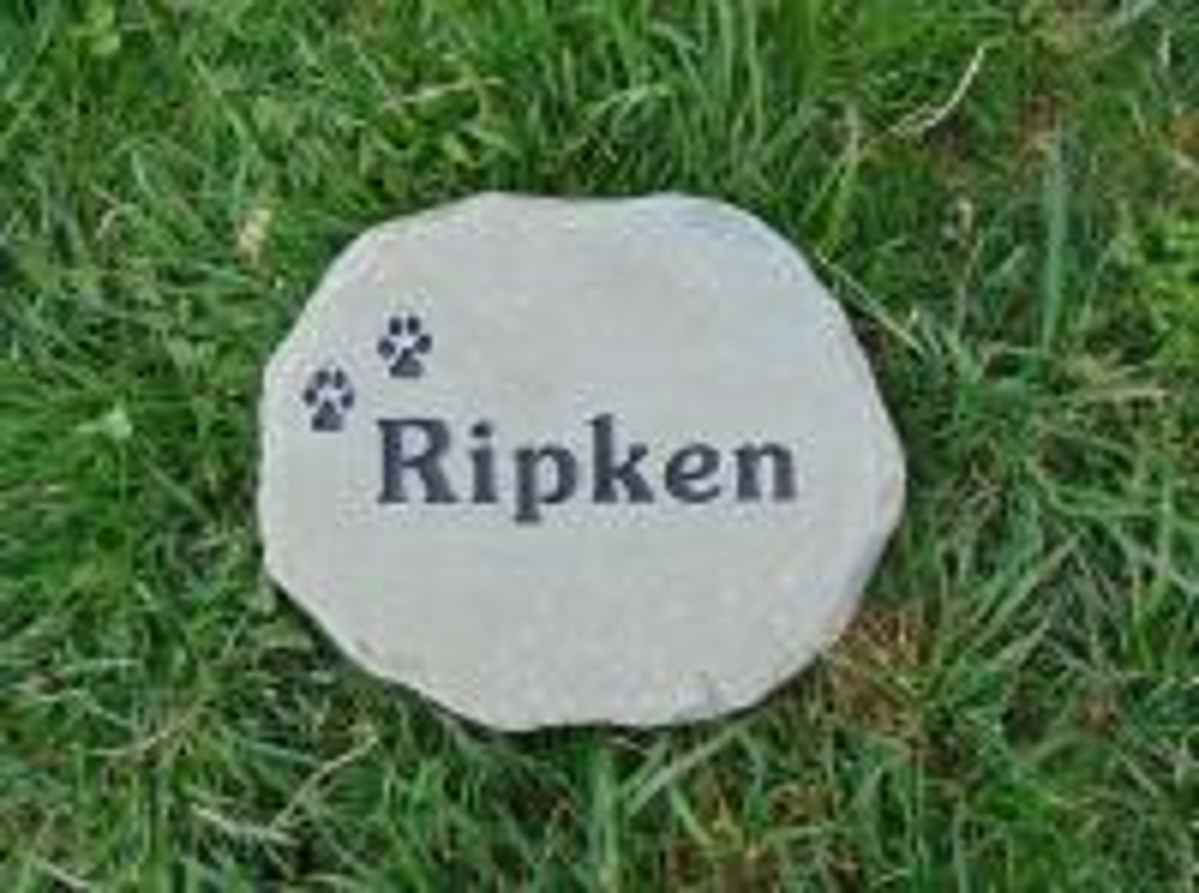 "Pet Memory Garden Stone 7-9"" across"