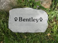 "Small Pet Grave Marker 8-10"" across"