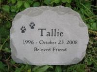 "Large Pet Headstone 13-14"" across"