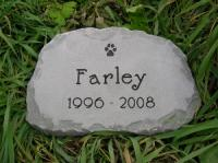 "Medium Pet Memorial 11-12"" across"