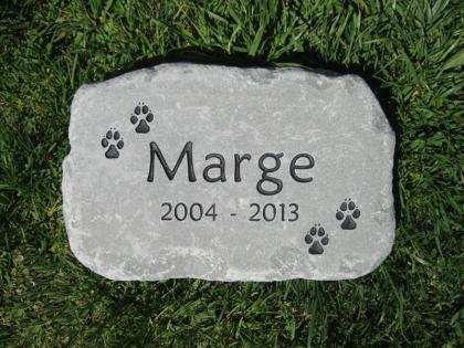 Dog Memorial Stone for Marge