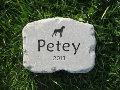Dog Memorial Stone for Petey