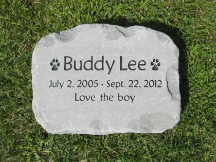 Pet Memorial Stone for Buddy Lee